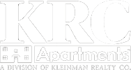 KRC Apartments White Logo